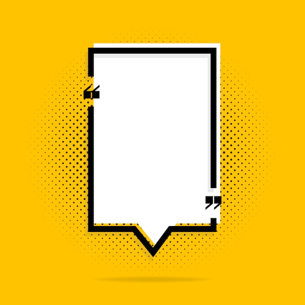 Quote frames on yellow Premium Vector