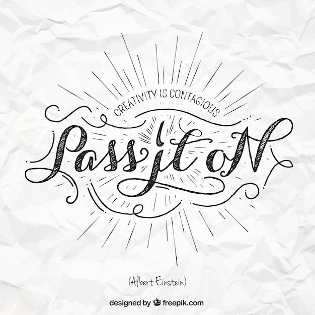 Quote in lettering styles vector premium download