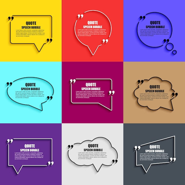 Quote Speech Bubble Vector Design Template Circle Business Card - Business card template paper