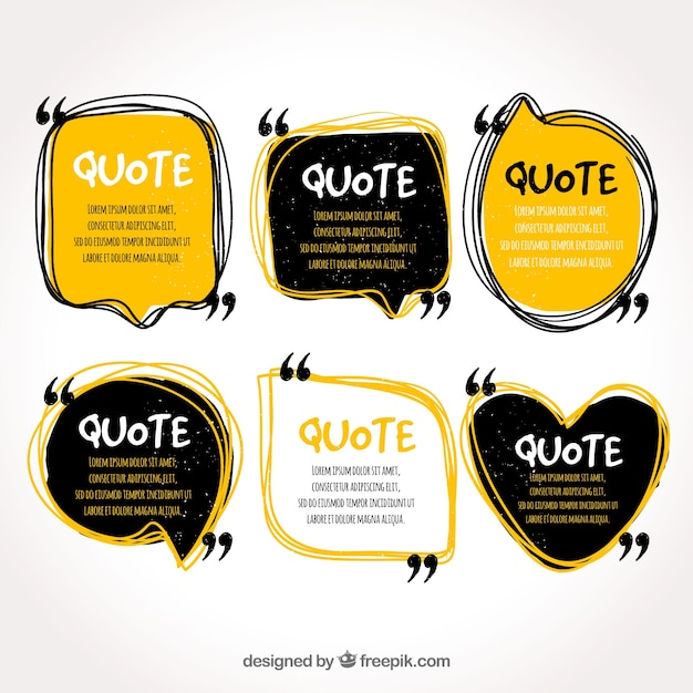 Quote template collection Premium Vector