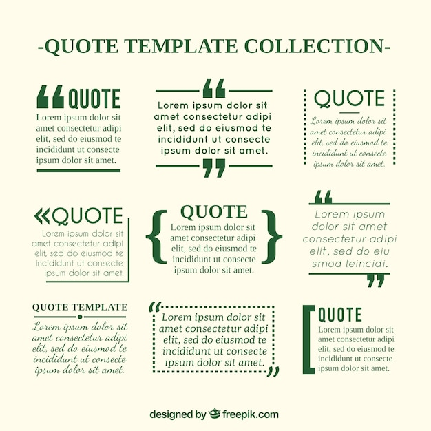 Quote Templates In Newspaper Style Free Vector  Free Download Quotation Template
