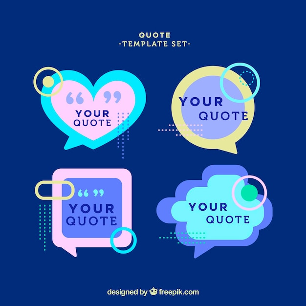 Quote templates with different shapes