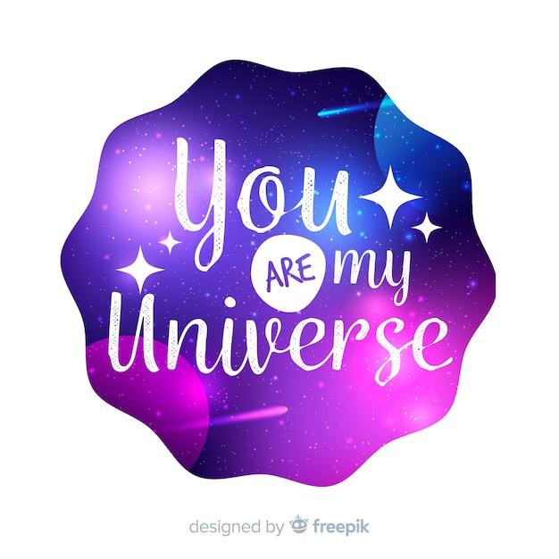 Citare con il concetto di galassia Vettore gratuito