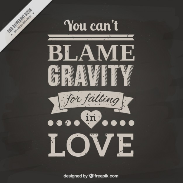 Quote with lettering about love vector premium download