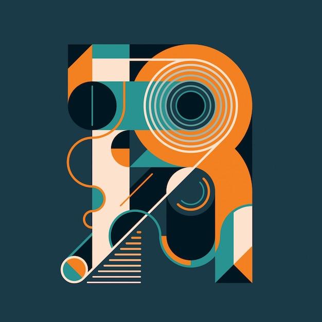 R letter design Premium Vector