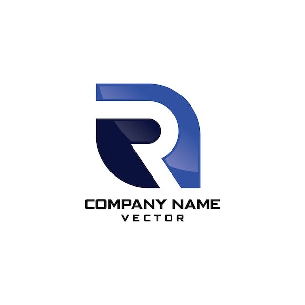 R symbol business logo design Premium Vector