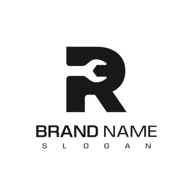 手紙r、分離された修理ロゴデザインベクトルテンプレート Premiumベクター