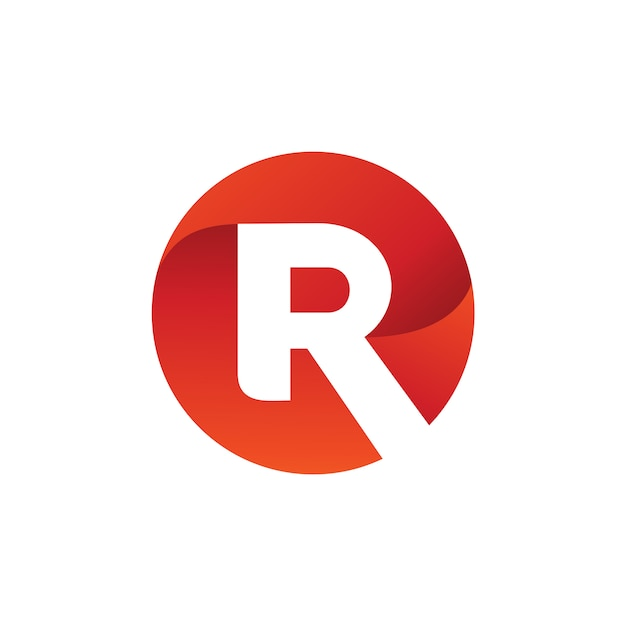 手紙r円ロゴベクトル Premiumベクター