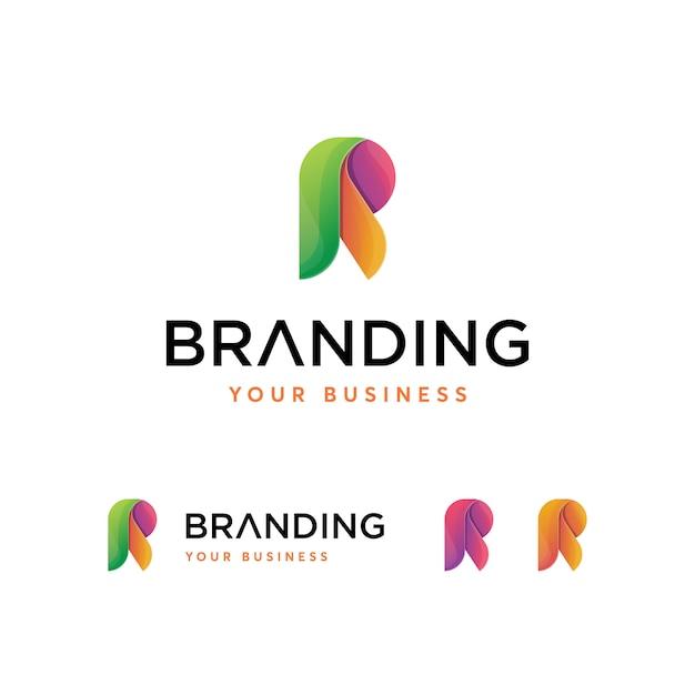 Rの文字ロゴのテンプレート Premiumベクター