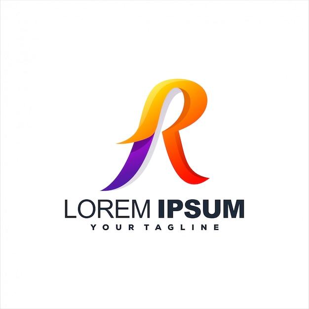 素晴らしい文字rロゴデザイン Premiumベクター