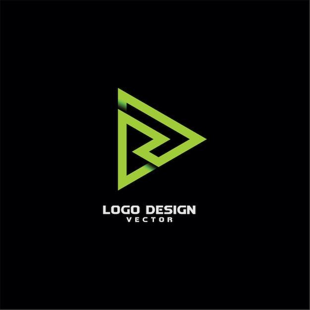 ラインアートのタイポグラフィrレターロゴデザイン Premiumベクター