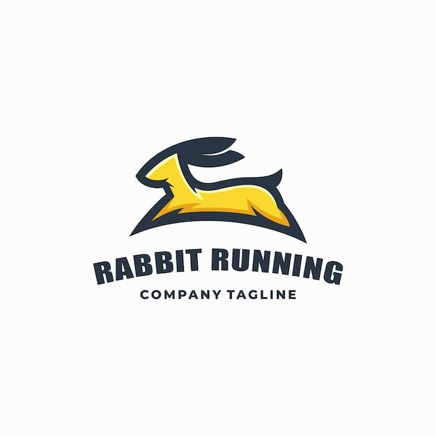 Rabbit color vector template Premium Vector