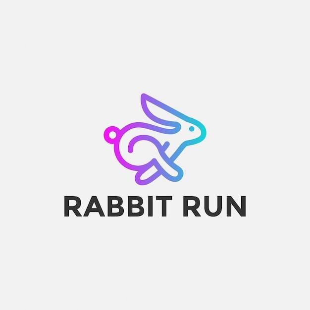Кролик ран Premium векторы