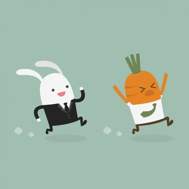 Rabbit running after a...