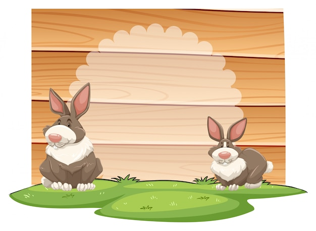 Rabbits Free Vector