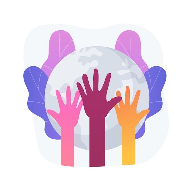 人種抽象概念ベクトルイラスト。人種差別、人権、肌の色、人間の多様性、遺伝暗号、職場における人種差別と人種平等、社会正義の抽象的な比喩。 無料ベクター