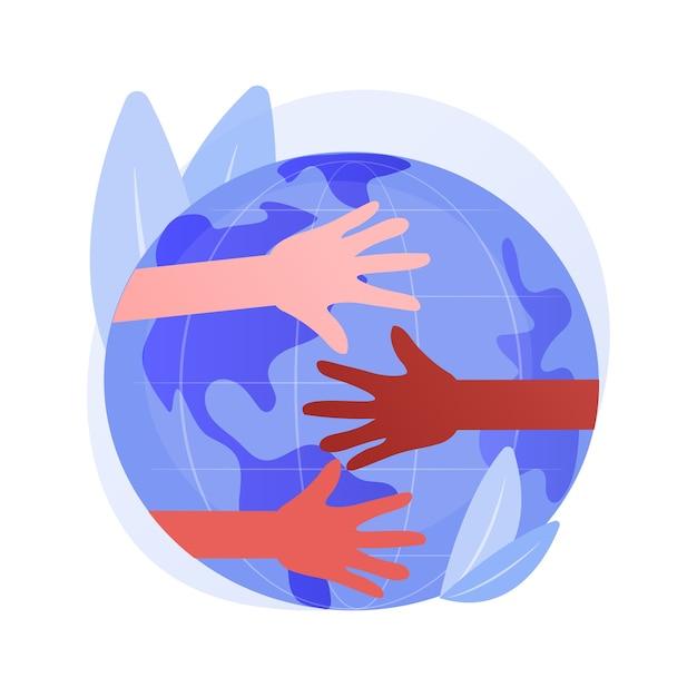Illustrazione di vettore di concetto astratto di corsa. discriminazione razziale, diritti umani, colore della pelle, diversità umana, codice genetico, razzismo ed equità razziale sul posto di lavoro, metafora astratta della giustizia sociale. Vettore gratuito