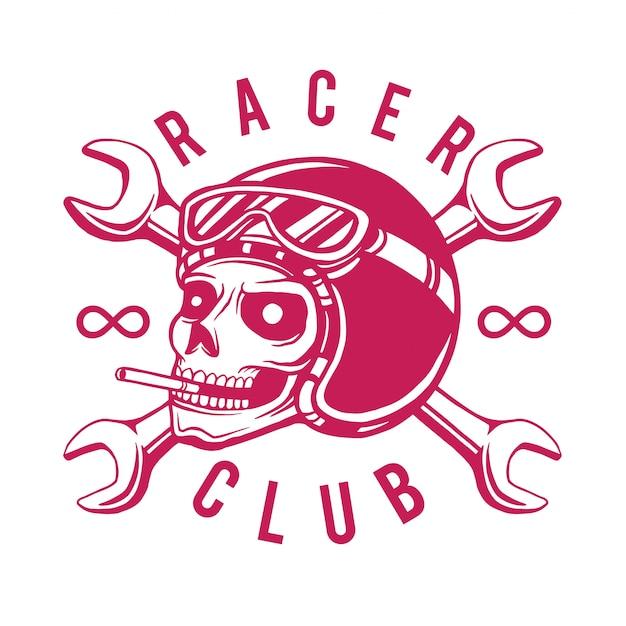 Racer club t-shirt design Premium Vector