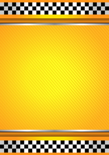 Racing background, taxi cab template Premium Vector