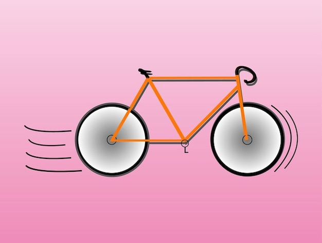 Racing bicycle minimal icon vector