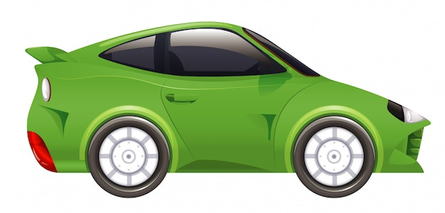 Racing car in green color on isolated Free Vector