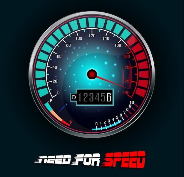 Racing car speedometer illustration Premium Vector