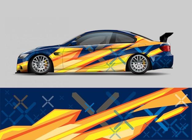 Racing car концепция дизайна упаковки Premium векторы