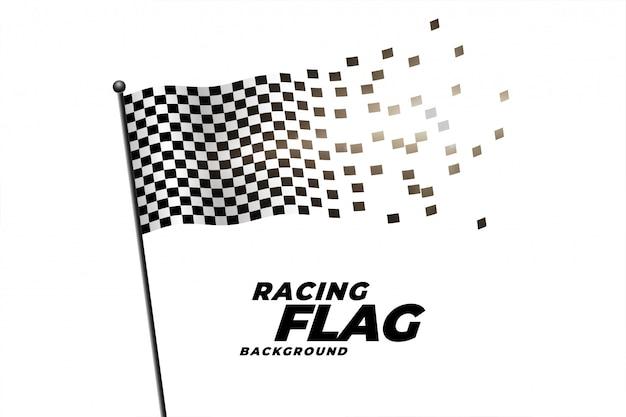 チェッカーフラッグ背景のレース 無料ベクター