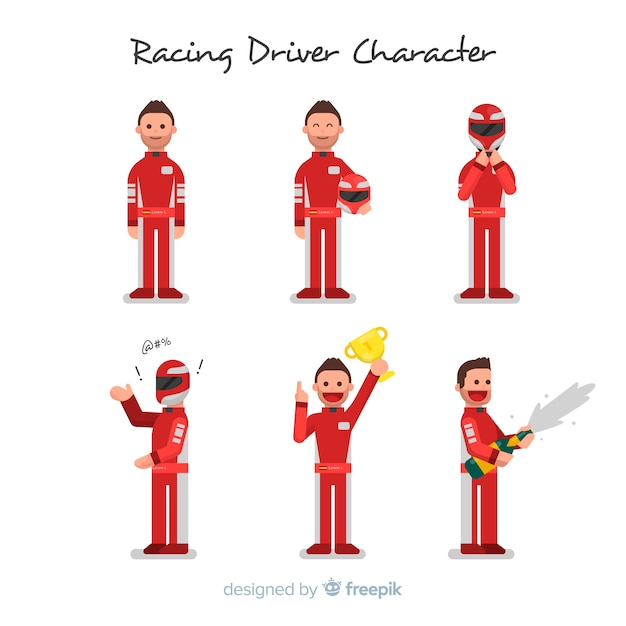 Racing driver character collection