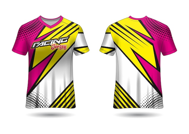 Racing jersey template design Premium Vector