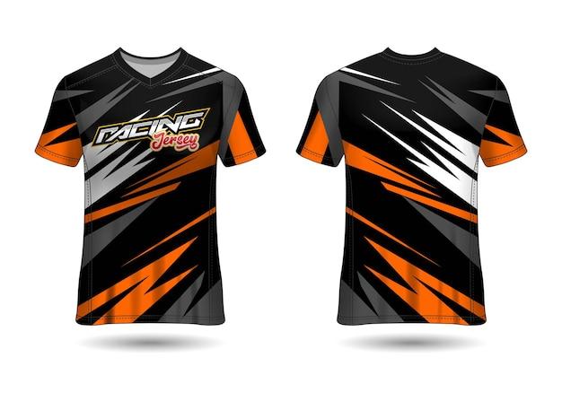 Racing jersey template design Premium Vector