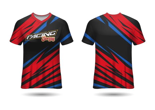 Racing sport jersey template design Premium Vector