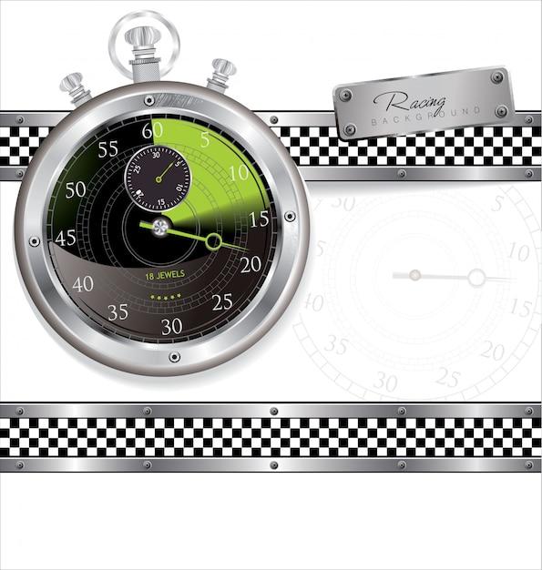 Racing urban background Premium Vector
