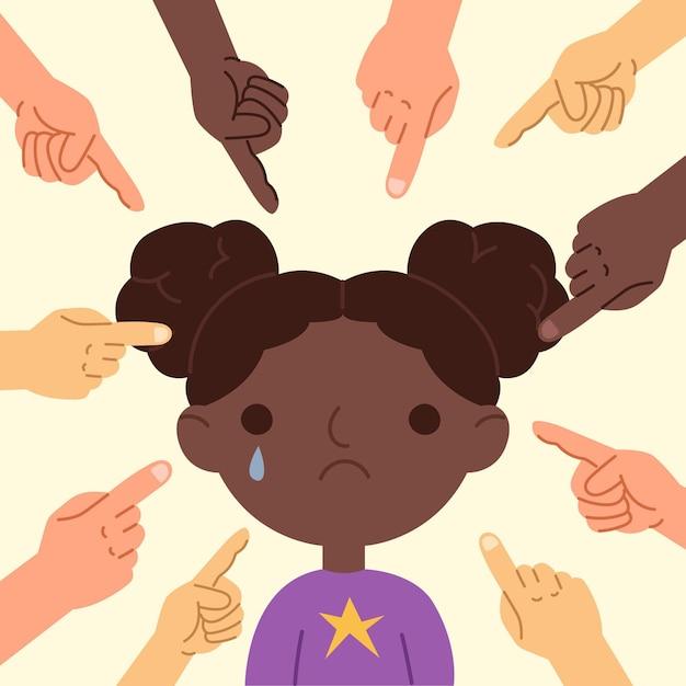 Racism concept illustration concept Free Vector