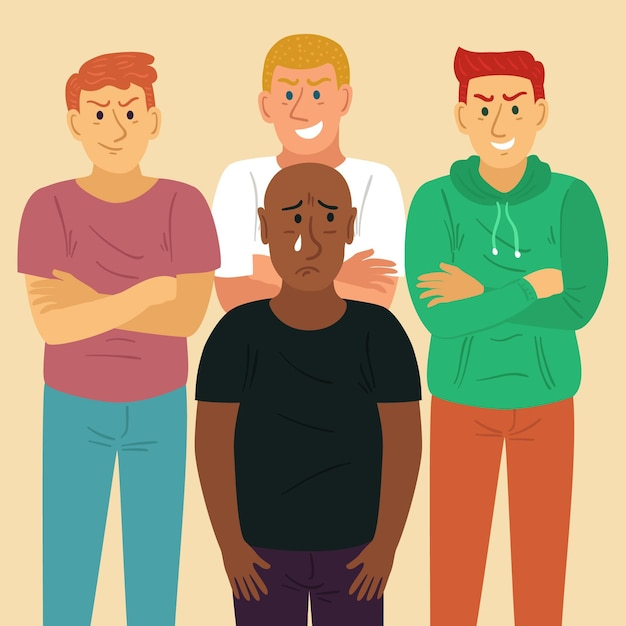 Racism concept illustration Free Vector