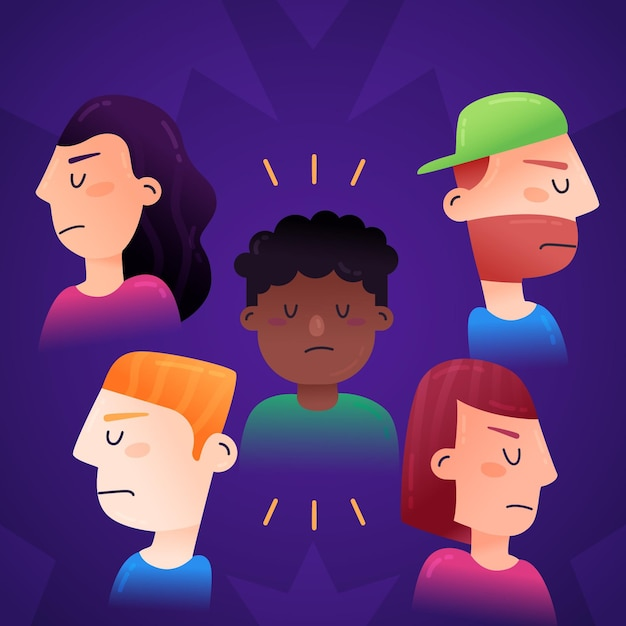 Racism concept Free Vector