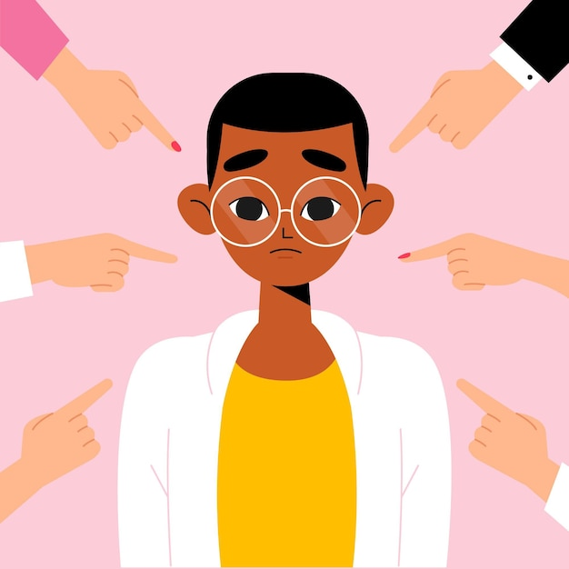 Racism illustration concept Free Vector