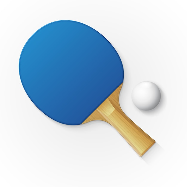Racket and ball for playing table tennis Premium Vector