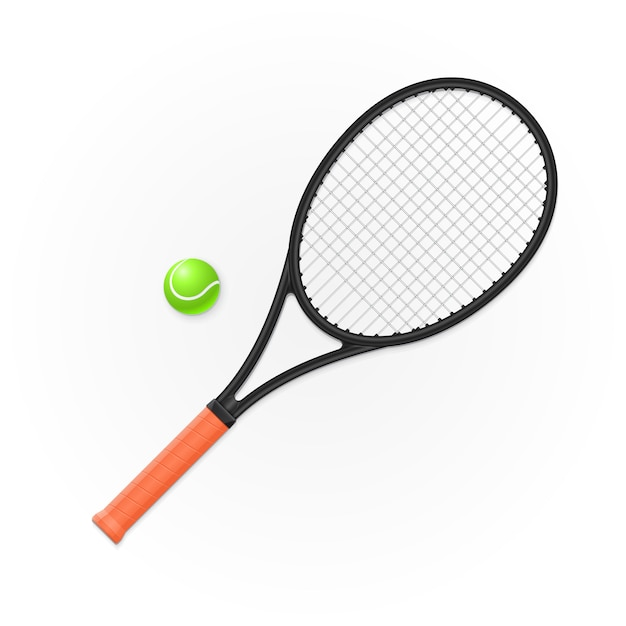 Racket and ball for playing tennis Premium Vector