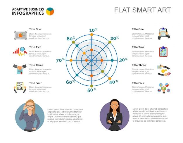 radar chart slide template vector free download