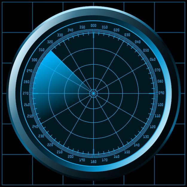 レーダー画面の図 Premiumベクター