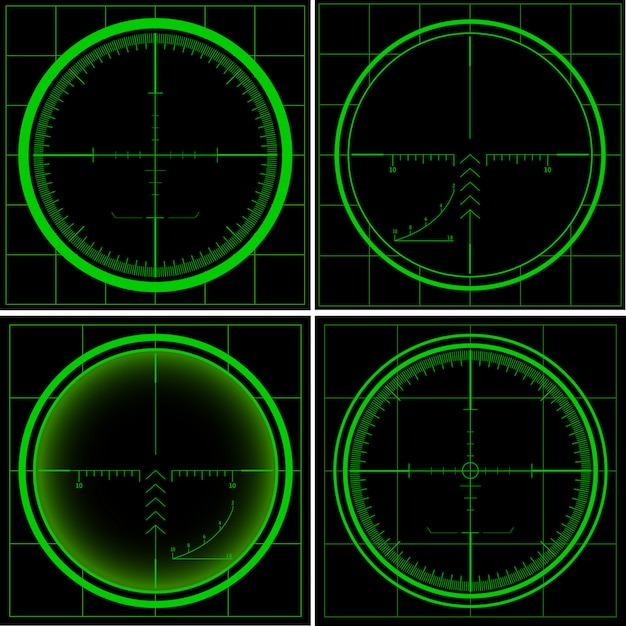 レーダー画面 Premiumベクター