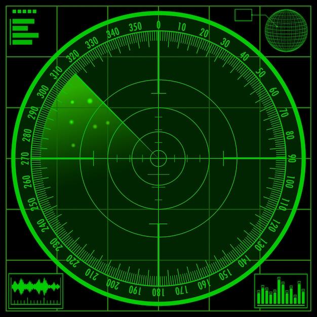 Radar screen Premium Vector