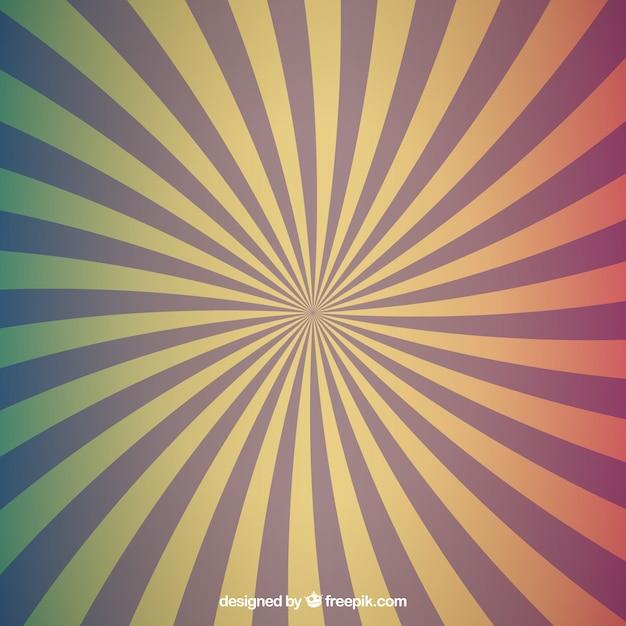 背景の放射状の色が設定され 無料ベクター