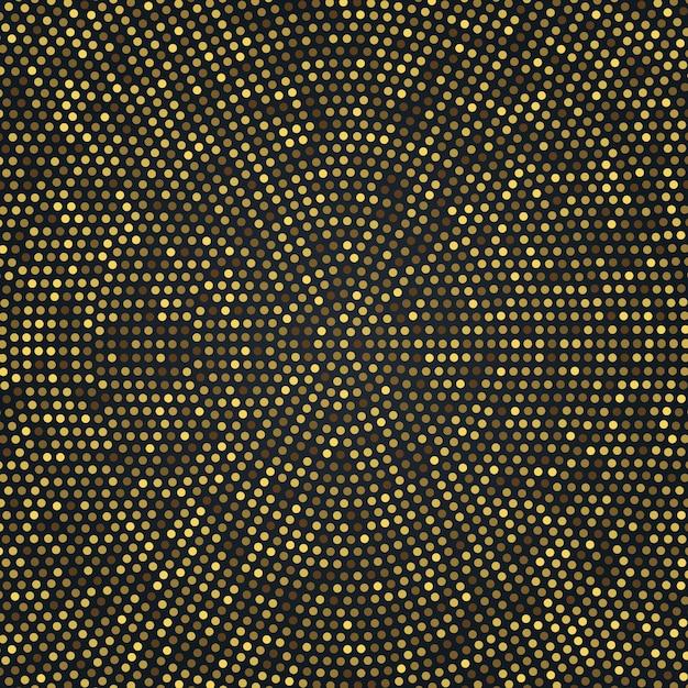 ラジアルゴールデンハーフトーンパターン、ゴールドの豪華な背景 Premiumベクター