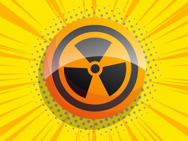 放射線サイン漫画背景 Premiumベクター