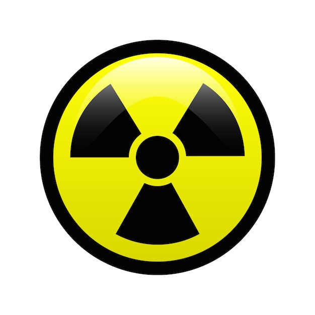 Radiation symbol Premium Vector