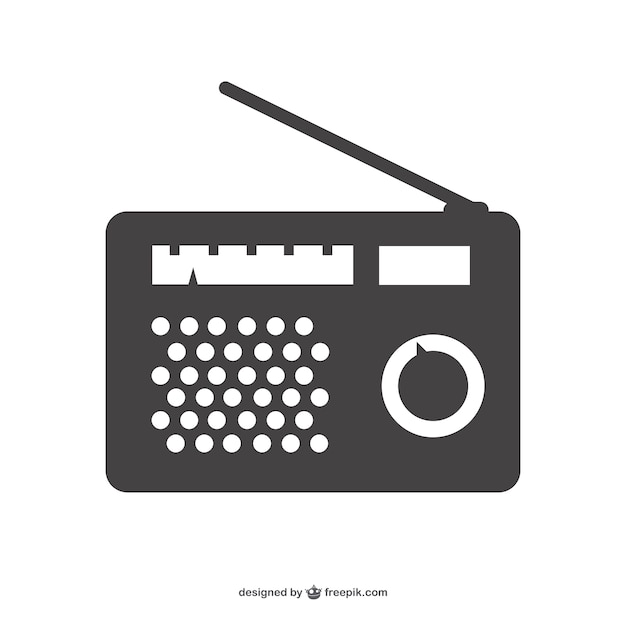 Radio device silhouette Free Vector