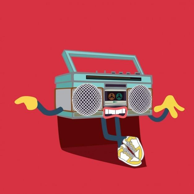 Radio illustration background Free Vector