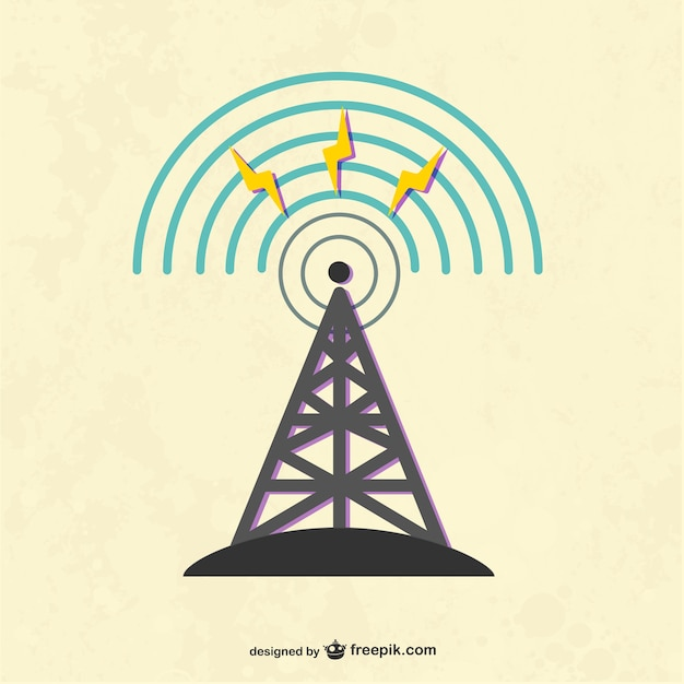 radio tower vector | free download